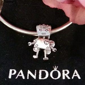 """Pandora's """"Floral Bella Bot"""" Charm"""
